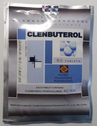 Clenbuterol Hubei 40mcg (50 com)